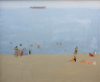 Markey, Danny (born 1965): Figures on a beach, signed and dated 1996, oil on canvas, 45 x 55.5 cms. Bequeathed by Mr Michael Nicholson. Bequest.