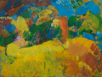 Cross, Tom (1931-2009): Landscape in the Marche, near Recanati, Italy about 1956, oil on canvas, 61 x 80 cms. Presented by Mrs Patricia Cross.