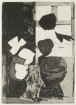 Cross, Tom (1931-2009): In a window 1, signed and dated 1978, etching (artist's proof), 41 x 28.5 cms. Presented by Mrs Patricia Cross.