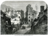 Hart, Thomas FSA (1830-1916): Scene of the recent fire at Falmouth, 1862, publisher: The Illustrated London News, dated 1862, inscribed Scene of the recent fire at Falmouth - see supplement page 429, wood engraving, 18.7 x 25 cms. Presented by Simon Hendra, The Lander Gallery, Truro.