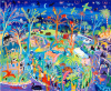 Dyer, John (born 1968): Zooing around, Newquay Zoo, 2009, signed, acrylic on board, 84.5 x 102 cms. Purchased as part of the Heritage Lottery Fund's Darwin 200 celebrations.