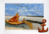 Abrahams, Ivor RA (born 1935): La Mediterranee (9 of a set of 16), signed and dated 1994, lithograph with ceramic maquette (artist's proof), 33.3 x 42.2 cms. Presented by Professor Ivor and Evelyne Abrahams.