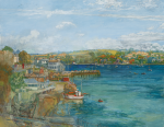Hewlett, Francis (1930-2012): The Greenbank Hotel , Falmouth (unfinished 2009), oil and charcoal on canvas, 127 x 162 cms. Presented by the artist's family.