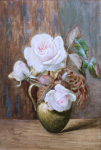 Genn, Ellen (1827-1897): Roses, signed and dated 1884, watercolour, 26.5 x 18 cms. Presented by Jill Armitage-Lewingdon in memory of Joan Rhodes (nee Armitage).