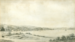 Farington, Joseph RA (1747-1821): View of Falmouth - a study for an engraving of 1813, signed, pencil on paper, 15 x 25.8 cms.