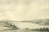 Farington, Joseph RA (1747-1821): View of Falmouth - a study for an engraving of 1813, signed, pencil on paper, 15 x 23 cms.
