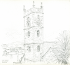 Bowen, Donald (born 1917): King Charles the Martyr, Falmouth, pencil on paper, 22.3 x 22 cms. Presented by the artist.