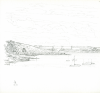 Bowen, Donald (born 1917): To Roseland, signed and dated 1971, pencil on paper, 22.3 x 22 cms. Presented by the artist.