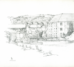 Bowen, Donald (born 1917): Penryn, signed, inscribed Penryn, pencil on paper, 22.3 x 22 cms. Presented by the artist.