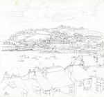 Bowen, Donald (born 1917): Falmouth, signed and dated 1971, pencil on paper, 22.3 x 22 cms. Presented by the artist.