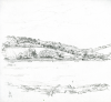 Bowen, Donald (born 1917): A view of Flushing from the Greenbank Hotel, signed and dated 1969, pencil on paper, 22.3 x 22 cms. Presented by the artist.
