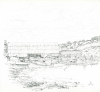 Bowen, Donald (born 1917): Penryn, signed and dated 1971, pencil on paper, 22.3 x 22 cms. Presented by the artist.