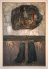 Hewlett, Francis (1930-2012): Ahab standing, 1964, mixed media on board, 124 x 82 cms. Presented by Robin Thomas.