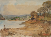 Pennington, George Farquhar (1872-1961): Polwarth Beach on the river Fal, signed, inscribed Polwarth, watercolour, 28.5 x 39 cms. Presented by Dower, Agnes.