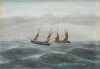 West, J. H.: Rough Sea, signed, oil on board, 18 x 25.5 cms. Presented by R. D. Miller Esq.