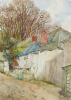 Pennington, George Farquhar (1872-1961): Myrtle Cottage, St Mawes, signed, watercolour, 39 x 28 cms. Presented by Dower, Agnes.