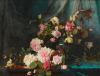 Anderson, Sophie (1823-1903): Roses, signed, oil on canvas, 71.5 x 92.1 cms. Presented by The Art Fund to celebrate the life and contribution to Falmouth Art Gallery of Brian Stewart.