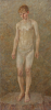 Manning Sanders, Joan (1913-2002): David, signed and dated 1930, oil on canvas, 171.5 x 83.5 cms. © Estate of Joan Manning-Sanders.