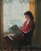 Jameson, Frank (1899-1968): A quiet read, signed, oil on canvas, 53 x 65.5 cms.