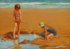 Jameson, Frank (1899-1968): Fun on the sands, signed, 52 x 74 cms.