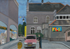 Davies, Peter (born 1970): The Markey Mural, oil on board, 40 x 56 cms. Gift of the artist to Falmouth Art Gallery.