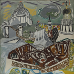 Early, Tom (1914-1967): St Paul's - variation 3, oil on canvas, 130 x 131.5 cms. Presented by the artist's widow, Mrs Eunice Campbell.
