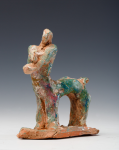 Abrahams, Ivor RA (1935-2015): Centaur from the La Mediterranee series of etchings, ceramic maquette, 12 cms. Presented by Professor Ivor and Evelyne Abrahams.