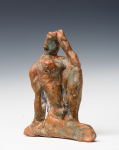 Abrahams, Ivor RA (1935-2015): Seated female form as featured in La Mediterranee, ceramic maquette, 11 cms. Presented by Professor Ivor and Evelyne Abrahams.