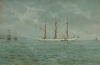 Ingram, William Ayerst (1855-1913): At anchor, Falmouth, oil on canvas, 41 x 58 cms. Purchased with funding from The Tony Banks Memorial Trust.