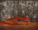 Jackowski, Andrzej (born 1947): Fox, signed, etching (38 of an edition of 75), 19.5 x 24.3 cms. Bequeathed by Margaret Whitford through the Art Fund. Bequest.