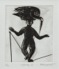 Jarrett, Clare (born 1952): Tightrope II, signed, drypoint (2 of an edition of 10), 39.9 x 33.4 cms. Bequeathed by Margaret Whitford through the Art Fund. Bequest.