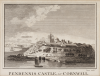 Pendennis Castle in Cornwall, engraver: Lowry, Joseph Wilson (1803-1879), inscribed with title, artist and publisher on plate, engraving, 18.3 x 23.4 cms. Presented by Lister, Mr Martin.