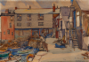 Whicker, Gwendoline J. (1900-1966): Custom's House Quay, Falmouth, signed, watercolour on board, 25 x 35.5 cms. Presented by Beecroft, Jane and Esme.