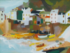 Tuff, Richard: Fowey from the ferry, signed, gouache on paper, 40 x 50 cms. Presented by Ashton, Dr P. M. E.