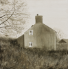 Horner, Marguerite: Empty house, signed and dated 2007, oil on linen, 50 x 50 cms. © Marguerite Horner.