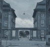 Middleton, Nick (born 1975): The asiatic company buildings, Copenhagen, signed and dated 2009, oil on paper, 10 x 15 cms. Presented by Priseman, Robert. © Nick Middleton.