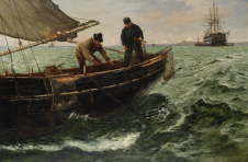 Picture of Hemy, Charles Napier RA RWS (1841-1917): Falmouth Natives, signed, oil on canvas, 81 x 122 cms. Funded by The Art Fund and ACE/V&A Purchase Grant Fund.. FAMAG 2014.1