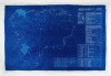 Chaney, Paul : Lizard Exit Plan Blueprint #1 Defence, cyanotype blueprint, 69.5 x 105 cms.