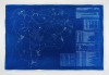 Chaney, Paul : Lizard Exit Plan Blueprint #3 Technics, cyanotype blueprint, 69.5 x 105 cms.