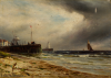 Breanski, Gustave De (1859-1899): A Brigg off the Isle of Man, signed, oil on canvas, 25.5 x 35.8 cms. Presented by Logan, Bob. Donation.