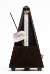 Lanyon, Andrew (born 1947): Reconstruction of Man Ray's metronome, dated 2004, metronome, 21 x 12 x 12 cms. Presented by Lanyon, Andrew.