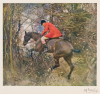 Munnings, Sir Alfred PRA RWS (1878-1959): The Gap, signed and dated 1909, print, 46 x 46 cms. Donation.