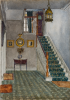 Freeman, Winifred (1866-1961): Staircase at Churchfield, watercolour on paper, 35.5 x 25.2 cms. Presented by Powell, Barbara.