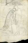 Hemy, Charles Napier RA RWS (1841-1917): Sketch, pencil on paper, 11 x 7.5 cms. Presented by Powell, Barbara.