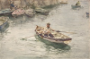 Tuke, Henry Scott, RA RWS (1858-1929): The Quay Steps, signed and dated 1904, inscribed Signed and dated H.S. Tuke 1904, watercolour, 30.5 x 45.8 cms. RCPS Tuke Collection. Loan.