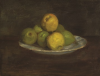 Tuke, Henry Scott, RA RWS (1858-1929): Still Life, Fruit, oil on panel, 35 x 26.7 cms. RCPS Tuke Collection. Loan.
