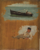 Tuke, Henry Scott, RA RWS (1858-1929): Torcross Sketches, oil on panel, 27 x 35.1 cms. RCPS Tuke Collection. Loan.