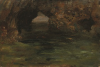 Tuke, Henry Scott, RA RWS (1858-1929): Archway in Rock Pool, oil on panel, 18.8 x 26.6 cms. RCPS Tuke Collection. Loan.