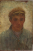 Tuke, Henry Scott, RA RWS (1858-1929): Johnnie, oil on panel, 24 x 61 cms. RCPS Tuke Collection. Loan.