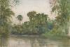 Tuke, Henry Scott, RA RWS (1858-1929): Group of Trees, Black River, signed and dated 1924, inscribed H.S.Tuke, watercolour, 17.7 x 26 cms. RCPS Tuke Collection. Loan.